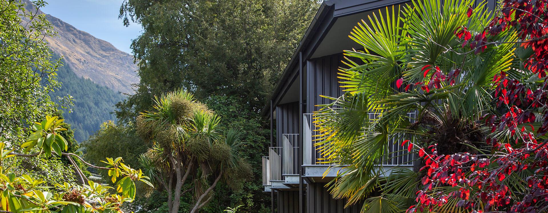 Koura Apartments garden balconies
